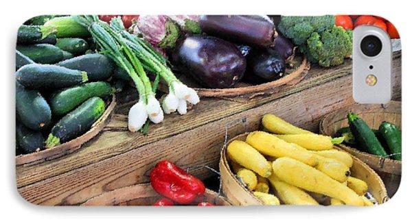 Farmers Market Summer Bounty Phone Case by Kristin Elmquist