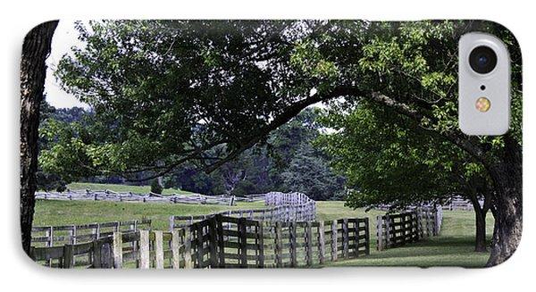 Farmland Shade Appomattox Virginia Phone Case by Teresa Mucha