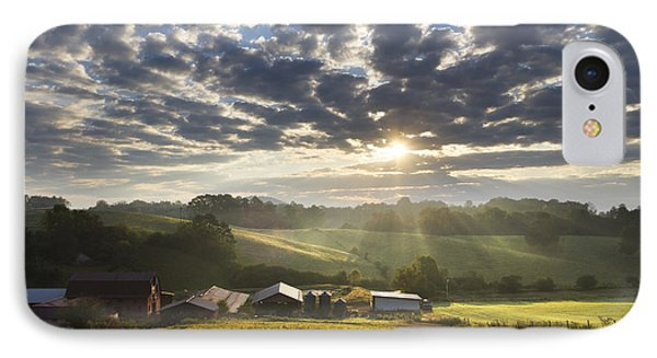 Farmlands Of Appalachia Phone Case by Debra and Dave Vanderlaan
