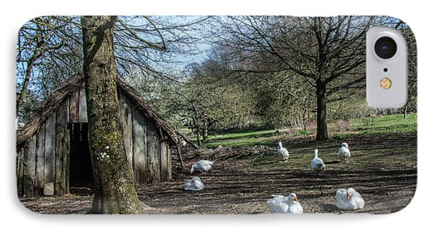 Farmyard Geese Phone Case by Dawn OConnor
