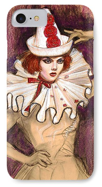 IPhone Case featuring the drawing Fashion Clown by Sue Halstenberg