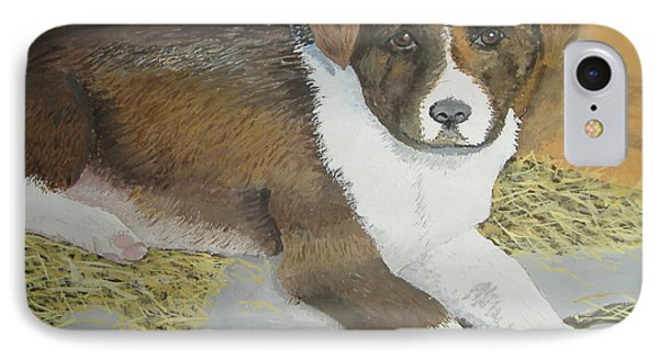 IPhone Case featuring the painting Fat Puppy by Norm Starks