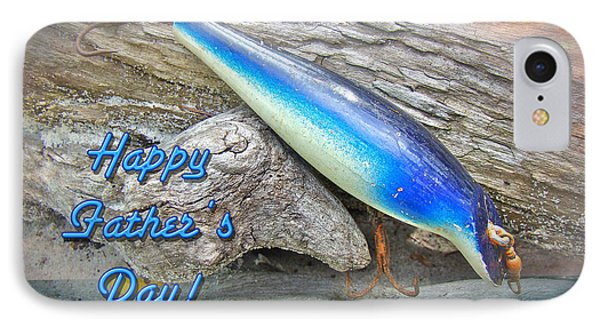 Fathers Day Greeting Card - Vintage Floyd Roman Nike Fishing Lure Phone Case by Mother Nature