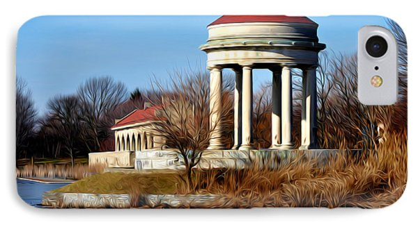 Fdr Park Gazebo And Boathouse Phone Case by Bill Cannon