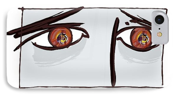 Fearful Eyes, Artwork Phone Case by Paul Brown