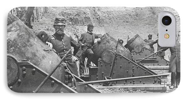 Federal Siege Guns Yorktown Virginia During The American Civil War IPhone Case
