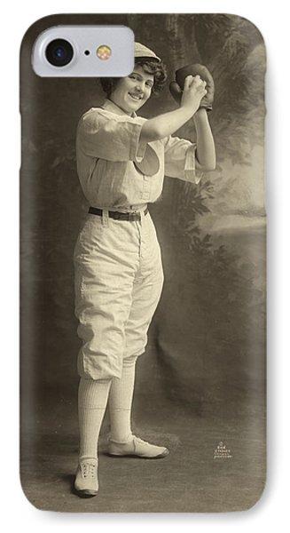 Female Baseball Player Phone Case by Granger