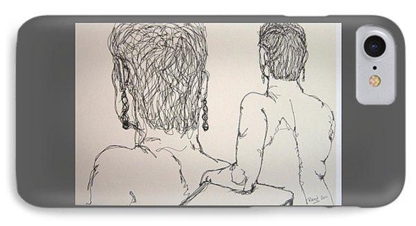 Female Nude Beside Herself IPhone Case by Rand Swift