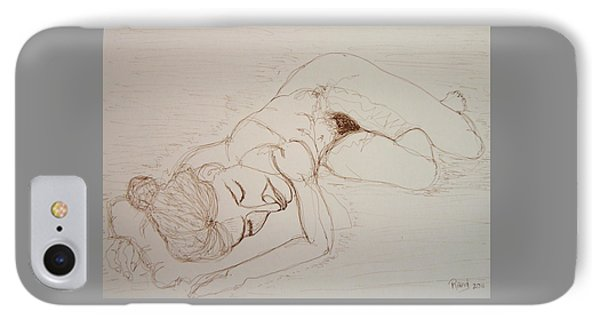 Female Nude Lying IPhone Case by Rand Swift