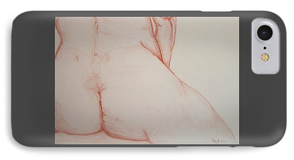 Female Nude Rear View IPhone Case by Rand Swift
