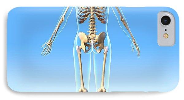 Female Skeleton, Artwork Phone Case by Roger Harris