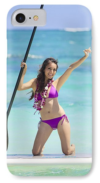 Female Stand Up Paddler Phone Case by Tomas del Amo