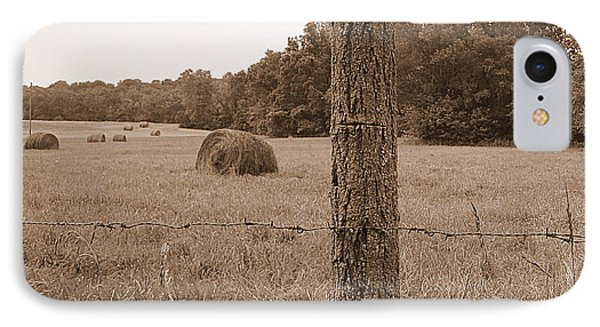 Fence And Field Phone Case by Sheila Harnett