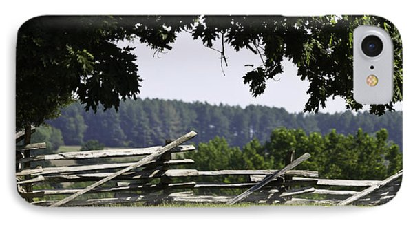 Fence At Appomattox Phone Case by Teresa Mucha