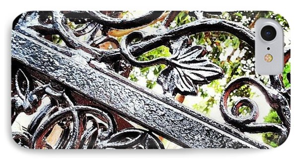 #fence #gate #decorative #ornamental IPhone Case by Daniel Corson