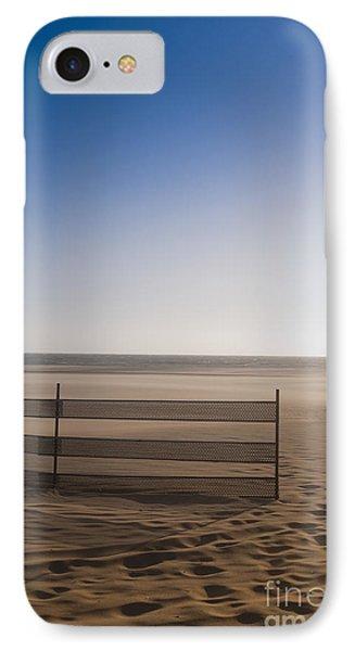 Fence On Beach Phone Case by Sam Bloomberg-rissman