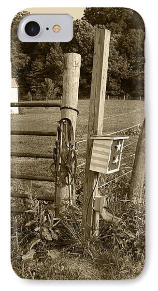 IPhone Case featuring the photograph Fence Post by Jennifer Ancker