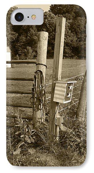 Fence Post Phone Case by Jennifer Ancker