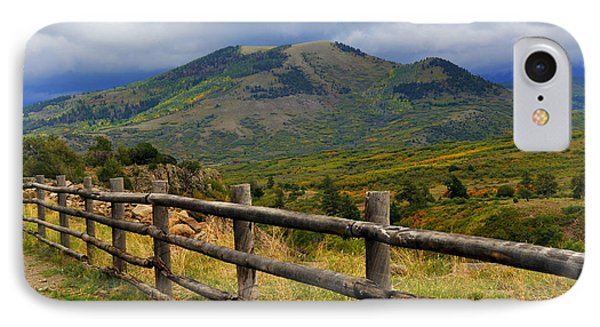Fence Row And Mountains Phone Case by Marty Koch