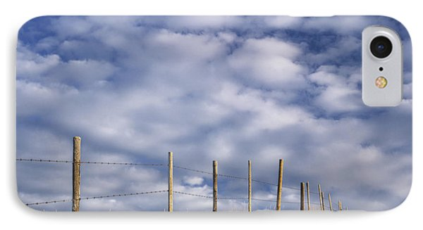 Fenceline In Pasture With Cumulus Phone Case by Darwin Wiggett