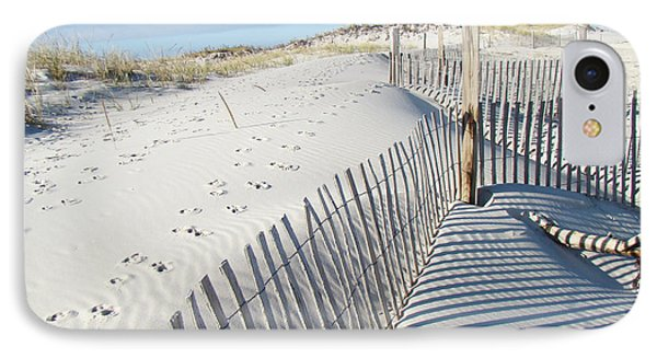 Fences Shadows And Sand Dunes Phone Case by Mother Nature