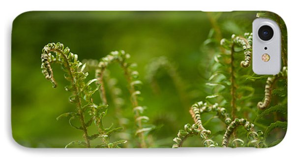 Ferns Fiddleheads Phone Case by Mike Reid
