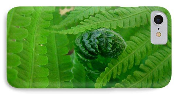 Ferns Fine Art Prints Green Forest Fern Phone Case by Baslee Troutman