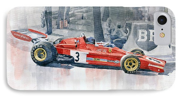 Ferrari 312 B3 Monaco Gp 1973 Jacky Ickx IPhone Case by Yuriy  Shevchuk