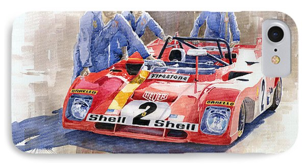 Ferrari 312 Pb 1972 Daytona 6-hour Winning IPhone Case by Yuriy  Shevchuk