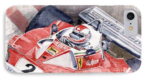 Ferrari 312 T 1976 Clay Regazzoni IPhone Case