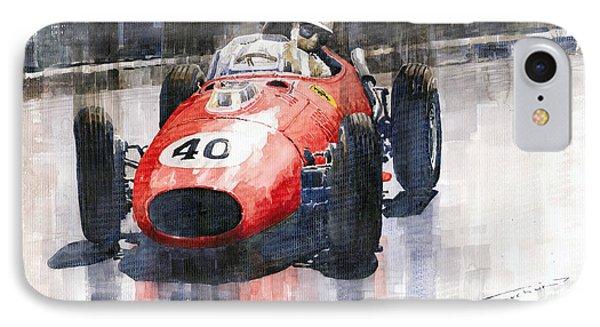 Ferrari Dino 246 F1 Monaco Gp 1958 Wolfgang Von Trips IPhone Case by Yuriy  Shevchuk