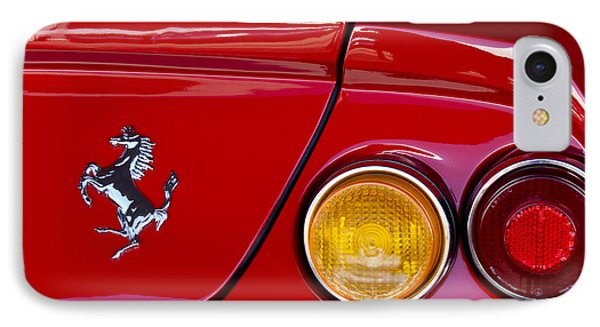 Ferrari Taillight Emblem 2 Phone Case by Jill Reger