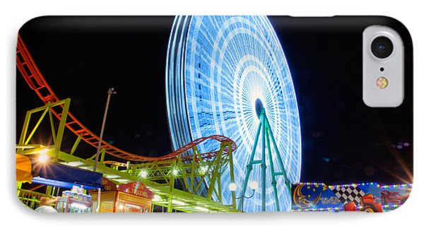 Ferris Wheel At Night Phone Case by Stelios Kleanthous