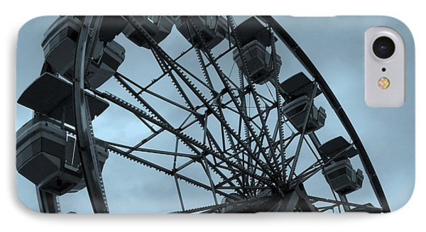 IPhone Case featuring the photograph Ferris Wheel Blue Sky by Ramona Johnston