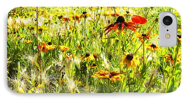 Field Of Bright Colorful Wildflowers IPhone Case
