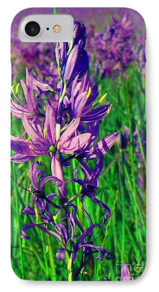 IPhone Case featuring the photograph Field Of Camas In Oregon by Mindy Bench