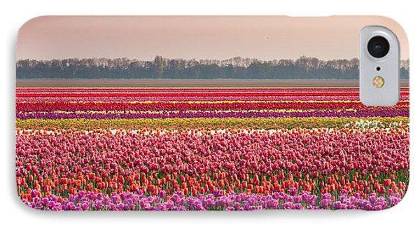 IPhone Case featuring the photograph Field With Tulips by Hans Engbers