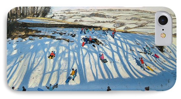 Fields Of Shadows IPhone Case by Andrew Macara