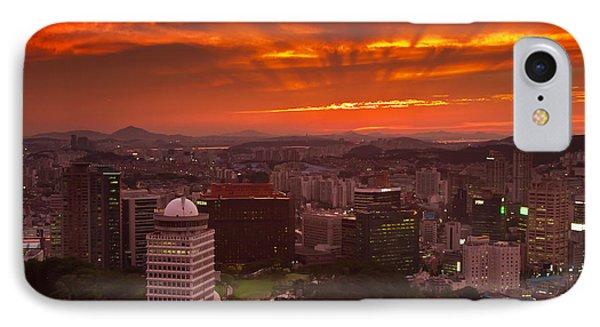 Fiery Seoul Sunset IPhone Case
