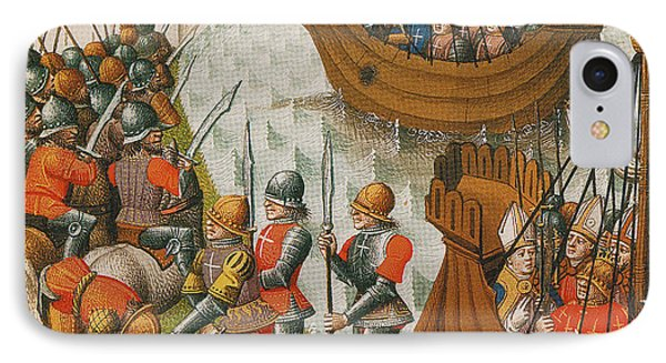 Fifth Crusade Siege Of Damietta 1218 Phone Case by Photo Researchers