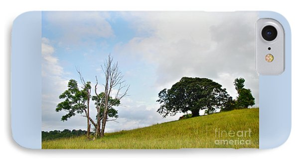 Fig Tree On A Hill Phone Case by Kaye Menner