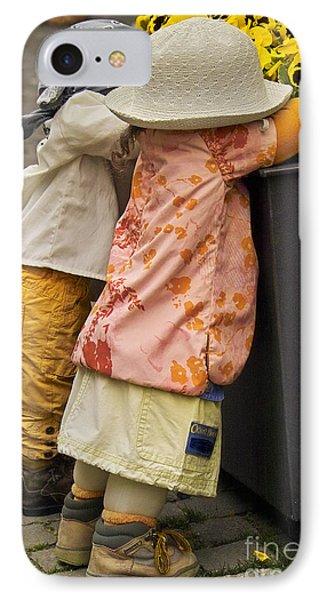 Figurines In Rural Dresses Phone Case by Heiko Koehrer-Wagner