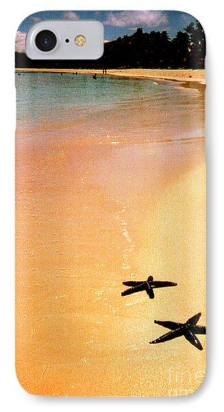 Fiji Beach With Starfish Phone Case by Jerome Stumphauzer