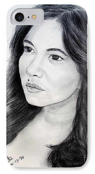 Filipina Beauty And Actress Lorna Tolentino IPhone Case by Jim Fitzpatrick