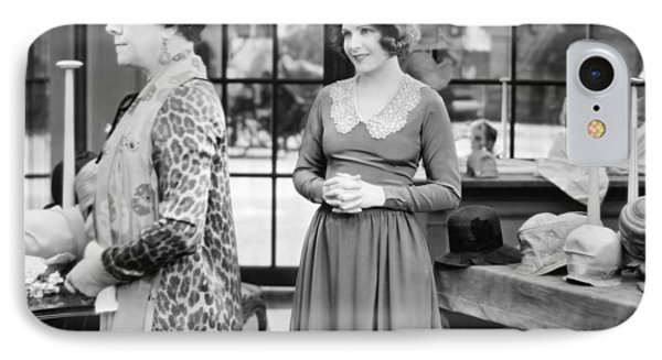 Film: Woman Disputed, 1928 IPhone Case by Granger