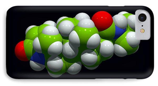 Finasteride Hair Loss Drug Molecule Phone Case by Dr Tim Evans