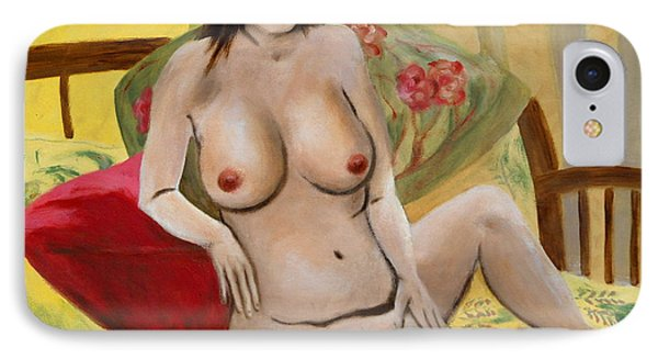 Fine Art Female Nude Seated 2010 Phone Case by G Linsenmayer