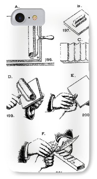 Fingerprinting Instructions, Circa 1900 Phone Case by Science Source