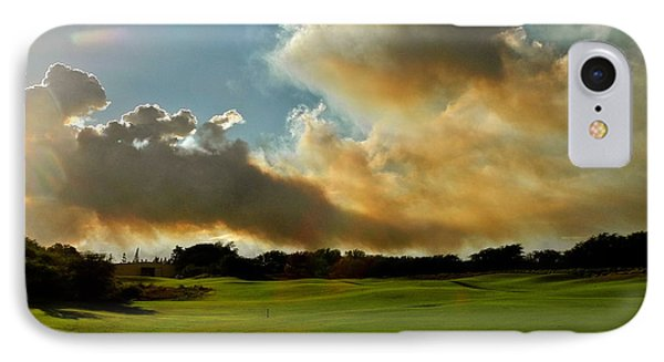 Fire Clouds Over A Golf Course IPhone Case by Kirsten Giving