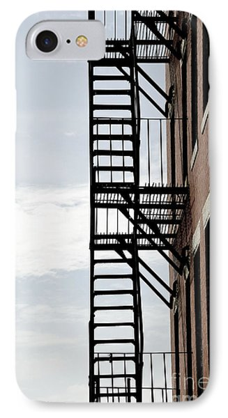 Fire Escape In Boston IPhone Case by Elena Elisseeva